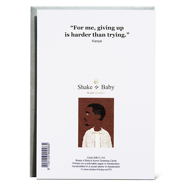 Shake it Baby greeting card Kanye backside