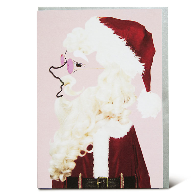 Shake it Baby greeting card Santa