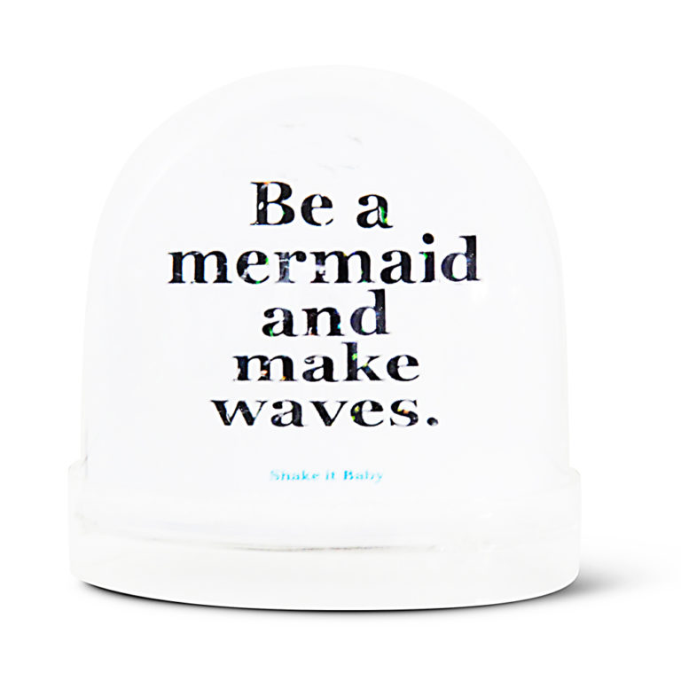 snow globe Mermaid text